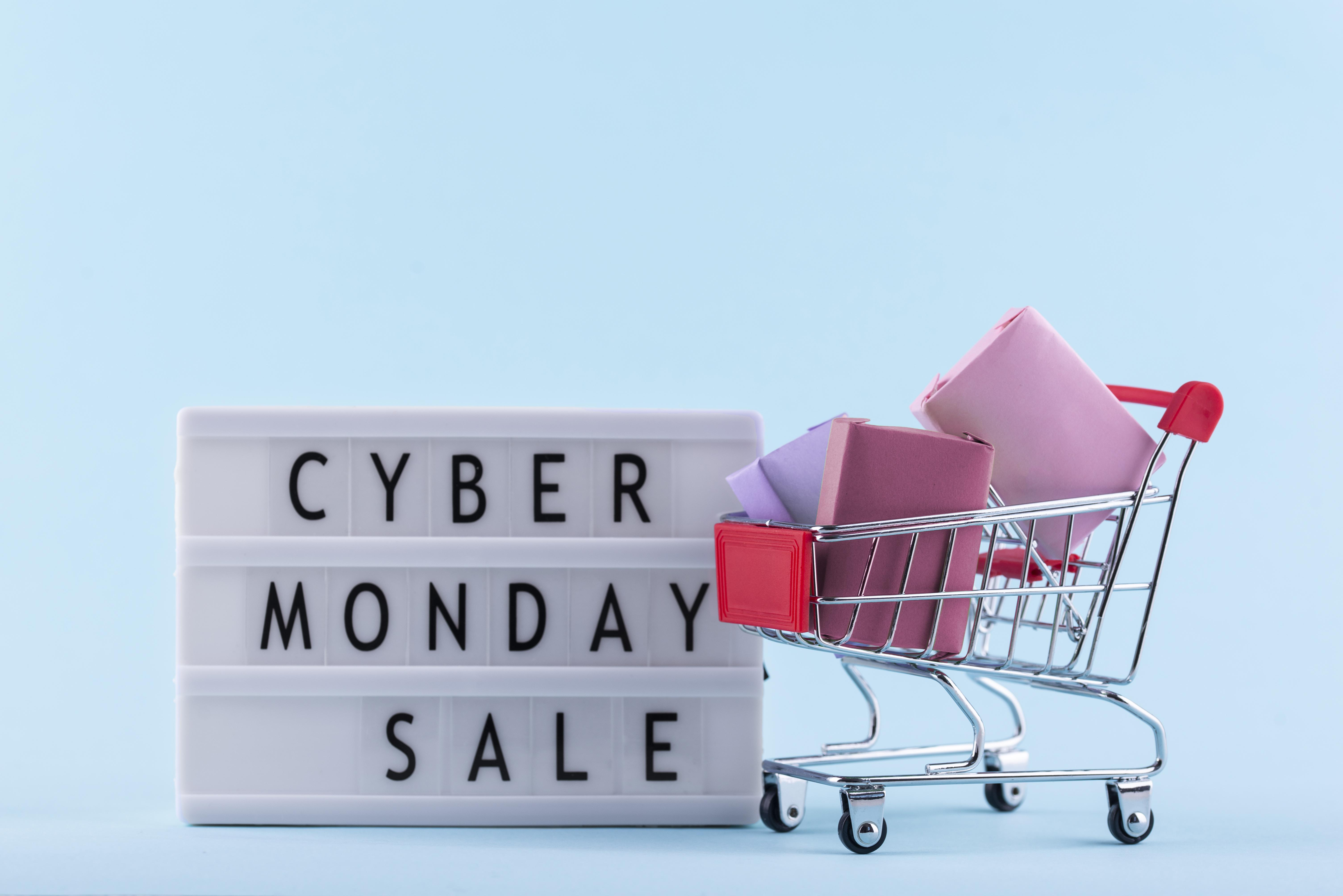 front-view-cyber-monday-composition