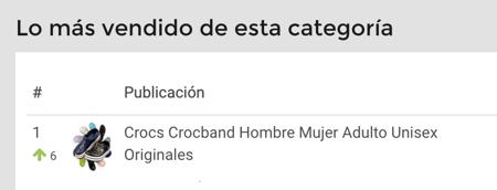 Ranking de calzado de baño para vender en Mercado Libre Argentina